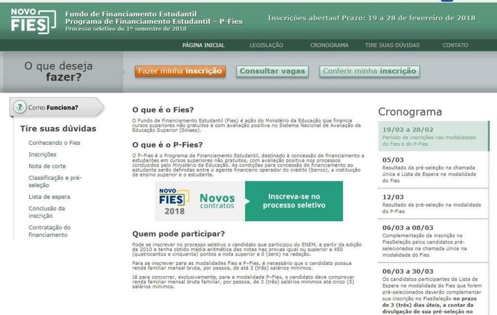 Página de acesso ao programa. (Foto: Reprodução)