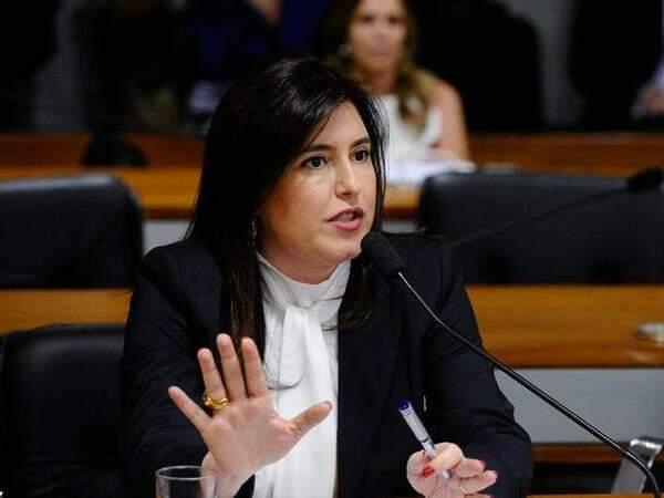 Senadora Simone Tebet (PMDB-MS) foi a 15ª discursar na sessão do impeachment no Senado. (Foto: Arquivo)