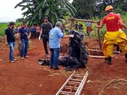 Homem é encontrado morto dentro de poço em assentamento