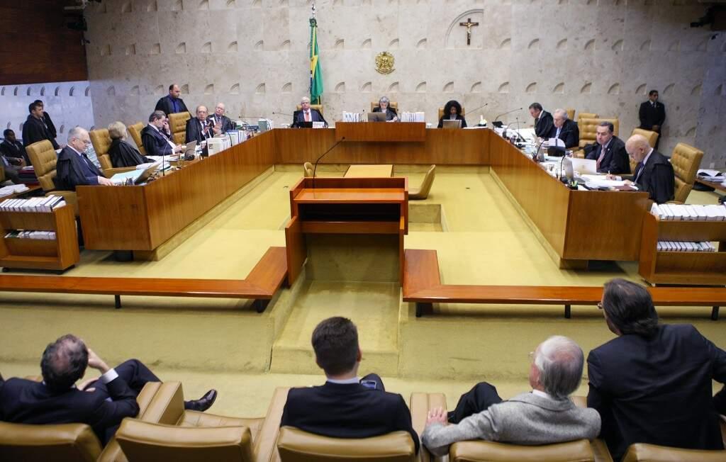 Sessão plenária desta quarta-feira (28) (Foto: Nelson Jr./STF)