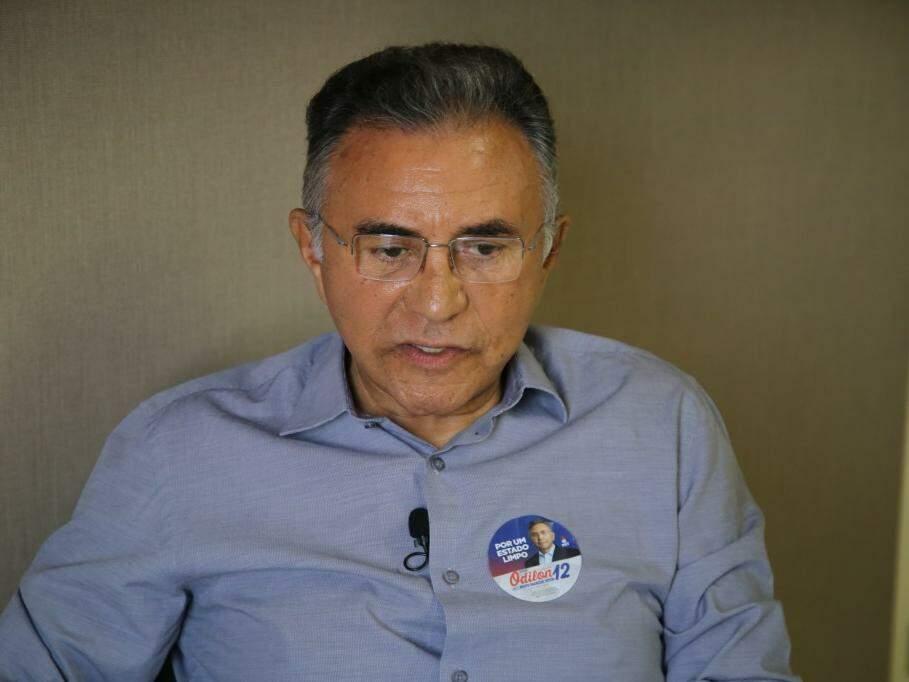 Odilon de Oliveira, do PDT, durante entrevista ao Campo Grande News. (Foto: Guilherme Rosa/Arquivo).