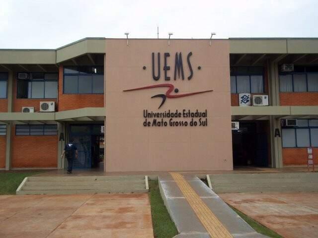 Fachada da UEMS em Dourados (Foto: Divulgação - UEMS)
