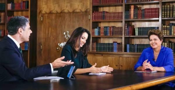 Entrevista de Dilma no Jornal Nacional ainda causa polêmica (Foto