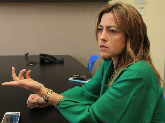 Soraya, em entrevista ao Campo Grande News na segunda-feira; candidata relatou à cúpula do PSL e à Polícia Civil ameaças do presidente regional do partido e suplente. (Foto: Marina Pacheco/Arquivo)
