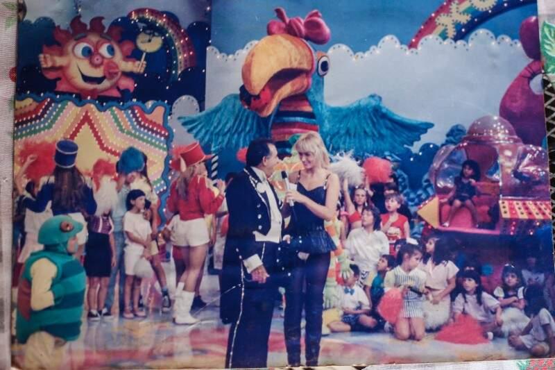 Apresentação no Show da Xuxa. (Foto: Arquivo Pessoal)