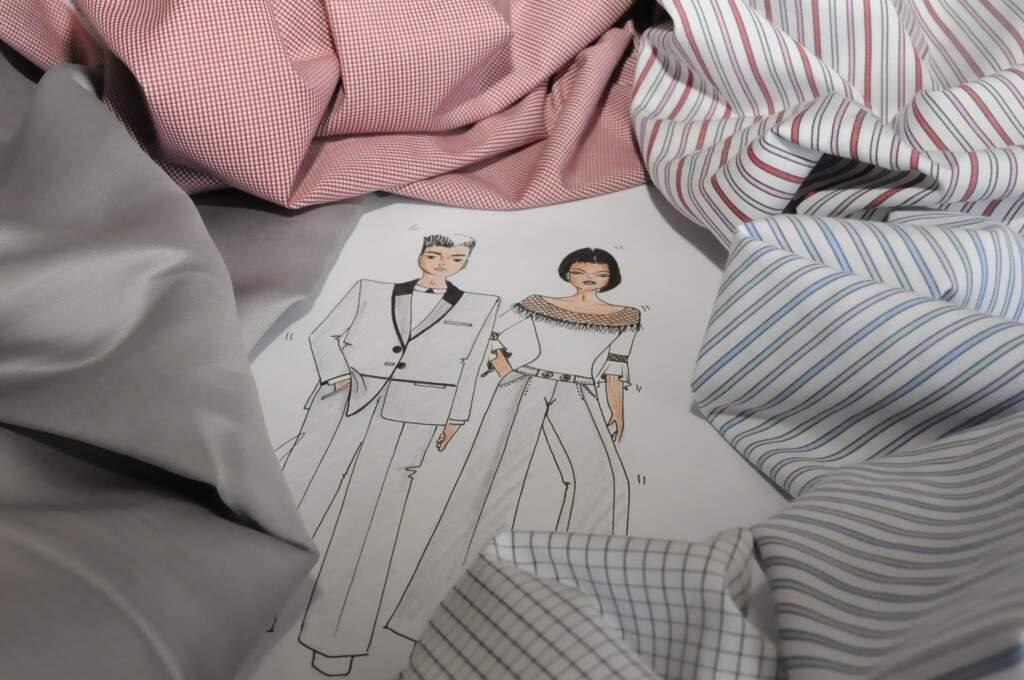 Tecidos para confecção de camisas ou ternos, masculinos e femininos. (Foto: Paulo Francis)