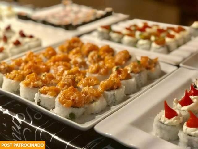 Opções de sushi fazem parte do cardápio e podem ser adquiridos no rodízio ou a la carte (Foto: Divulgação)