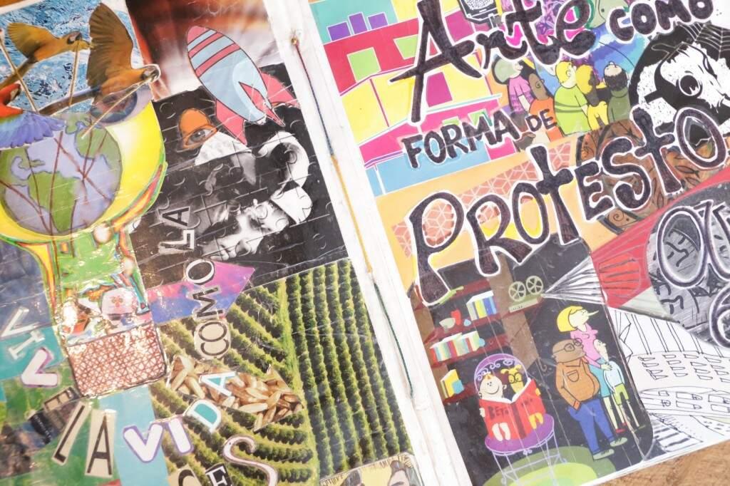 Conteúdo de revistas e jornais ganham novo sentido na produção de zines (Foto: Kísie Ainoâ)