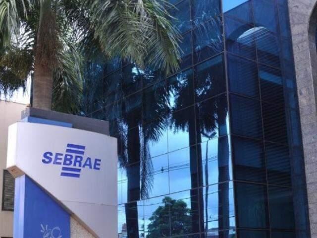Unidade do Sebrae na avenida Mato Grosso em Campo Grande; Inscrições para concurso da Unidade estão abertas até quarta-feira (16). (Foto: Alcides Neto/Arquivo)