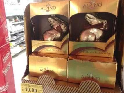 Com preço do ovo de Páscoa, dá para comprar até 5 barras de chocolate