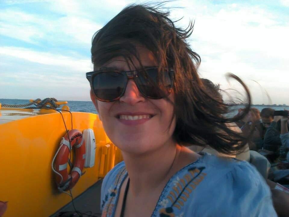 A foto é de 2012, mas mostra o sorriso que Luciana nunca tirou do rosto pela vida e pelo trabalho. (Foto: Arquivo Pessoal)