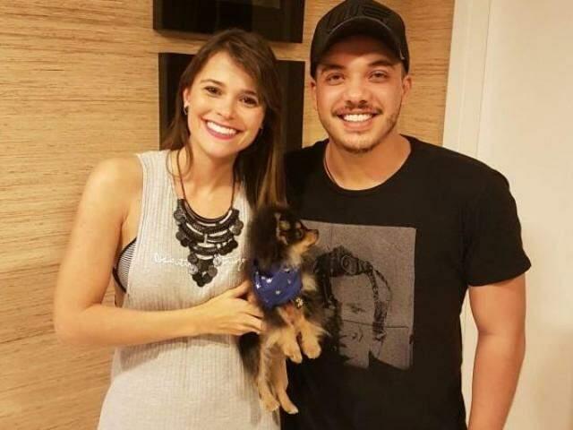 Amanda e Safadão ontem, em Fortaleza. (Reprodução Instagram)