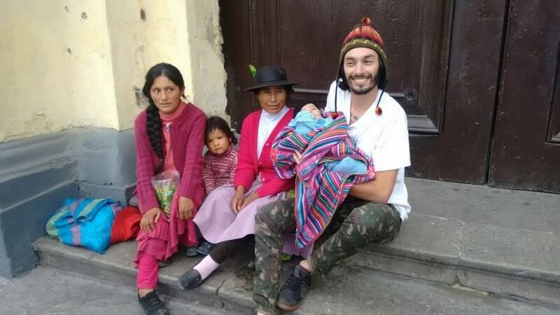 Diego em uma de suas andanças pelo Peru. (Foto: Arquivo Pessoal)