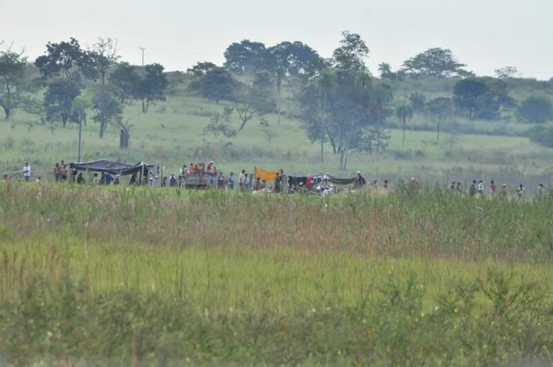Área em Dois Irmãos do Buriti foi invadia em 2011 pelos terena. (Foto: Arquivo/ Campo Grande News)
