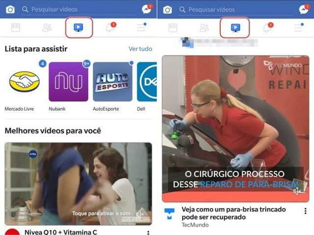 Feed apenas com vídeos publicados pelas páginas que o usuário segue no Facebook. (Foto: ReproduçãoTecmundo)