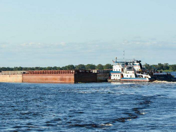 Produção de dois milhões de toneladas de grão de MS, pode ser transportado pela hidrovia, no rio Paraguai. (Foto: Divulgação)