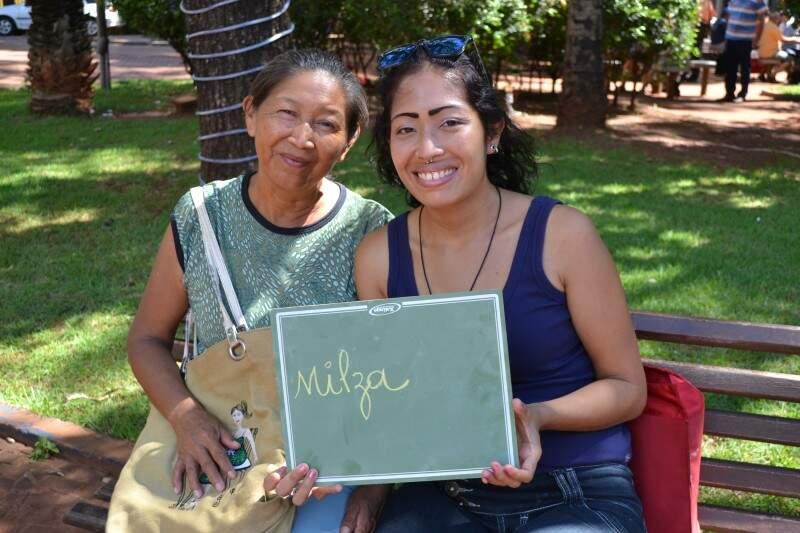 Milza e Talita são companheiras na criação do filho dela, Samael (Foto: Naiane Mesquita)