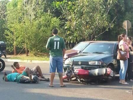 Vítimas sofreram apenas escoriações pelo corpo (Foto:Aléssio Aguena)
