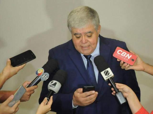 Ministro Carlos Marun esteve nesta sexta-feira em Campo Grande (Foto: Paulo Francis)