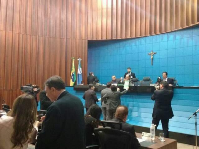 Sessão na Assembleia Legislativa de MS. (Foto: João Paulo Gonçalves/Arquivo).