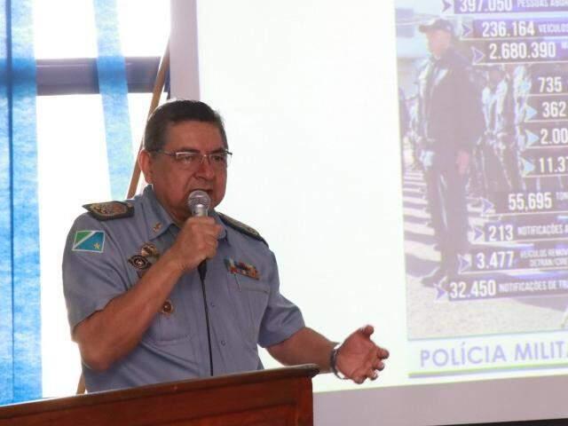 Coronel Waldir Ribeiro Acosta, comandante da Polícia Militar. (Foto: Henrique Kawaminami)