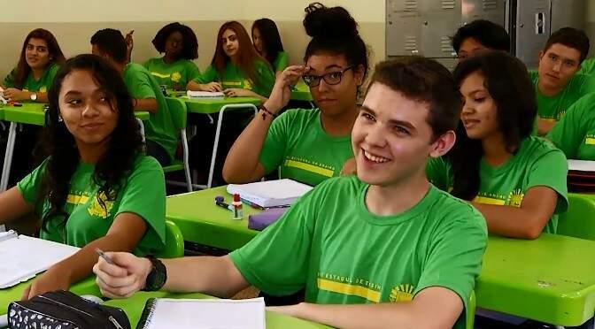 Dados do Governo revelam que escolas de tempo integral estão mudando a realidade da educação em Mato Grosso do Sul (Foto: Chico Ribeiro)