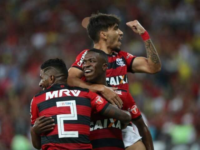 Apesar da empolgação e gols no início da partida, placar não saiu do empate. (Foto: FlamengoFC)