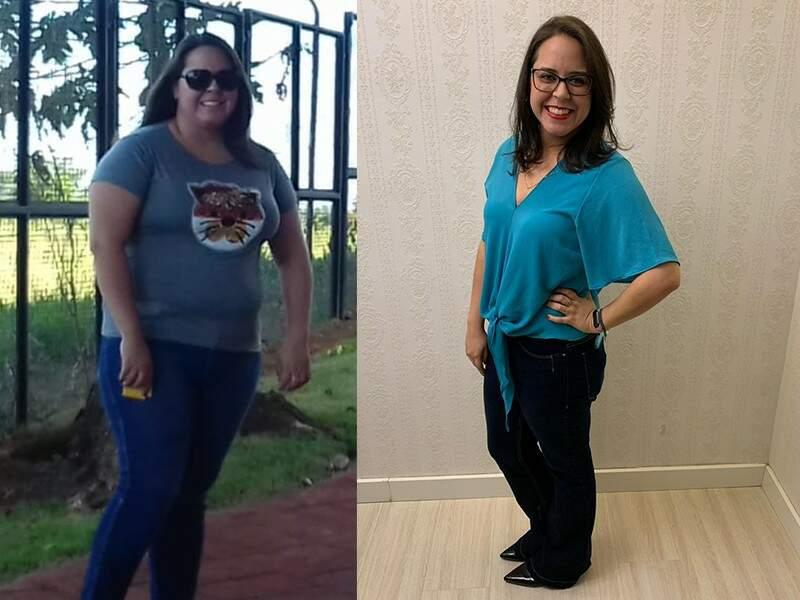 Maria Helena deixou no passado os 103 quilos e hoje pesa 65. (Foto: Divulgação)