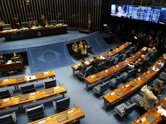 Plenário do Senado, durante a sessão desta terça-feira. (Foto: Fabio Rodrigues Pozzebom/Agência Brasil)