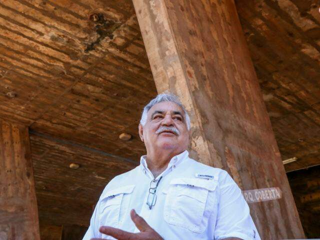 Segundo presidente da FFMS, foram gastos R$ 120 mil nas obras do Morenão (Foto: Henrique Kawaminami)