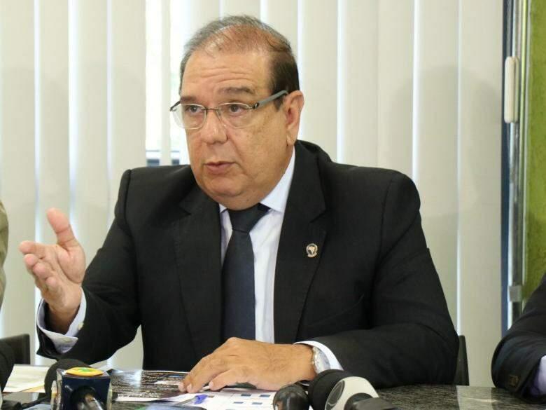 Delegado-geral Marcelo Vargas durante coletiva de imprensa (Foto: Henrique Kawaminami)