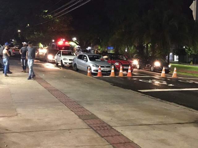 Blitz da Lei seca na Avenida Afonso Pena (Foto: BPTran/Divulgação)
