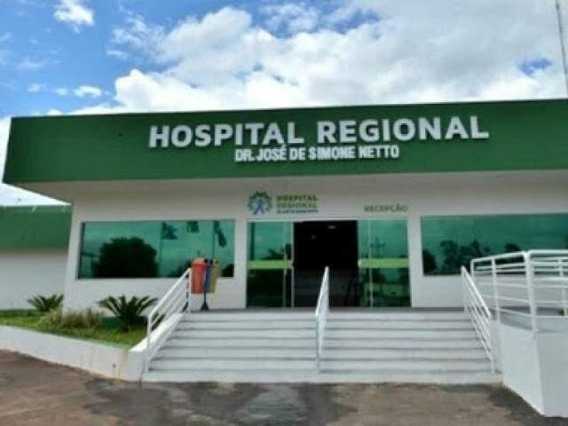 Paciente está internado no Hospital Regional de Ponta Porã (Foto: Divulgação/ Governo MS)