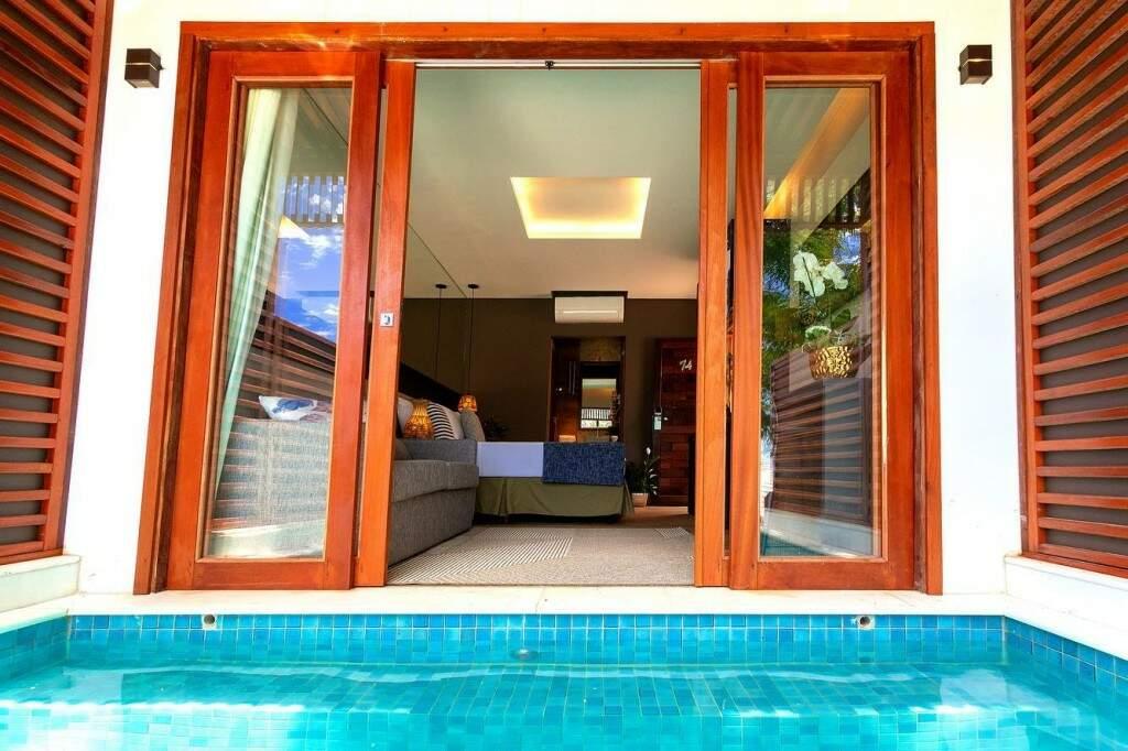 Agora é possível sair da cama e entrar na piscina. (Foto: Pousada Arte da Natureza)