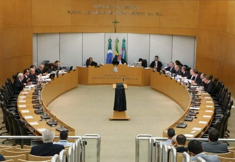 """Desembargadores do Órgão Especial do TJMS vão receber regulamentação sobre assunto """"nos próximos dias"""", para atender recomendação do CNJ. (Foto: Arquivo)"""