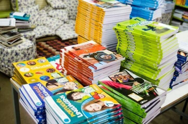 Livros que foram repassados no início do ano (Foto: Divulgação MEC)