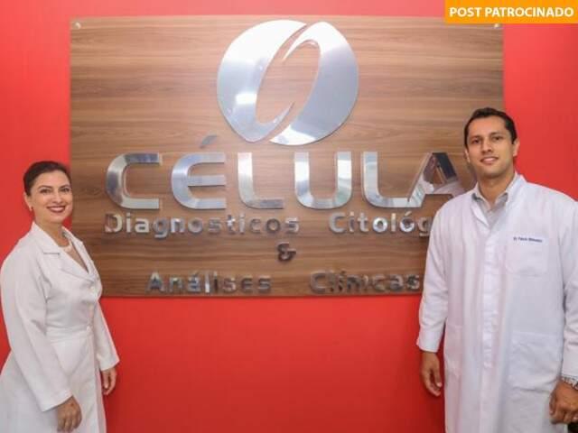 Flávia Vecchi, sócia-proprietária do Laboratório Célula e Rodolfo Correia, doutor em Ciências da Saúde, trazem exame inédito para o Estado. (Foto: Paulo Francis)