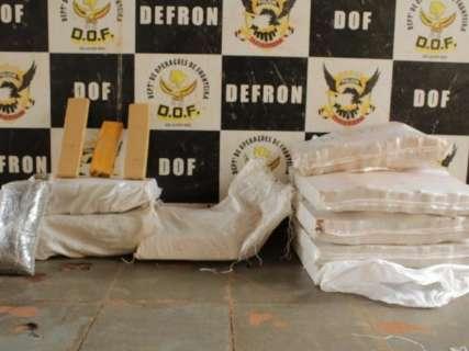 Trio é preso com 183 quilos de maconha e skank na MS-164