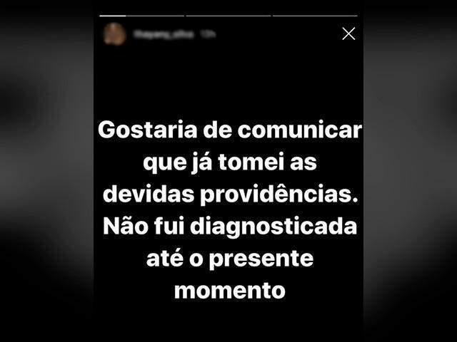 Namorada postou nas redes sociais que não foi diagnosticada com a doença (Foto/Reprodução)