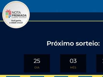 Nota Premiada Campo Grande abre inscrições no site para concorrer a prêmios