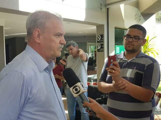 Geraldo Rezende deu entrevista hoje em Dourados.(Foto: Ricardo Minellla/Divulgação)