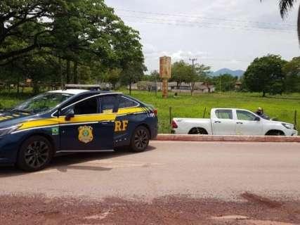 Fugitivo é recapturado com CNH falsa e camionete adulterada na BR-262