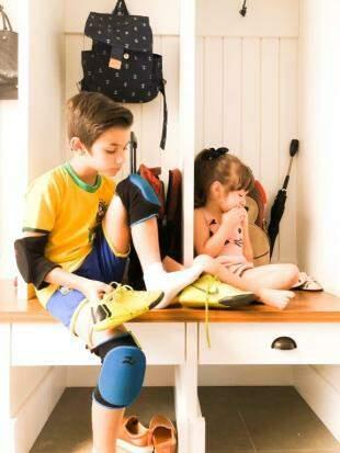 """""""Mudroom"""" é o espaço para tirar os calçados. (Foto: Arquivo Pessoal)"""