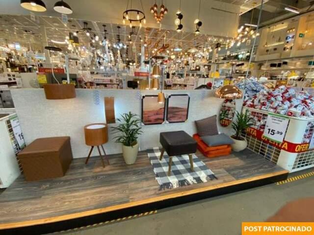 Pela loja, você encontra ambientes decorados para inspirar transformações. (Foto: Divulgação)