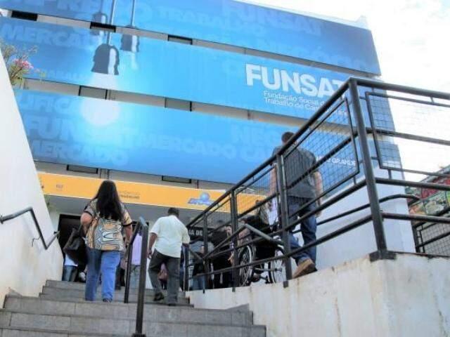 Fachada da Fundação Social do Trabalho em Campo Grande (Foto: divulgação/Funsat)