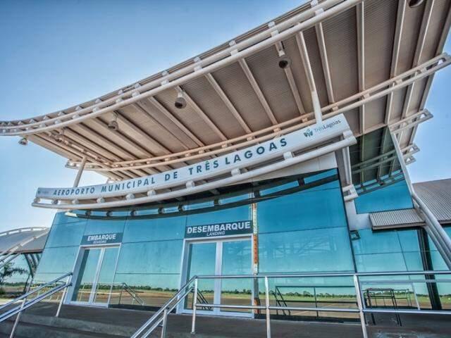 Entrada do Aeroporto Municipal de Três Lagoas (Foto: Divulgação)