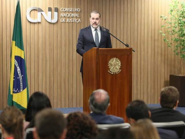 Ministro Dias Toffoli durante evento no CNJ (Foto: Gil Ferreira/ Agência CNJ)