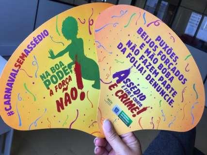 """""""Na boa, pode, à força, não"""": campanha alerta contra assédio no Carnaval"""
