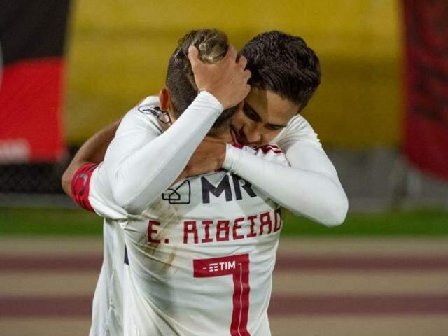 Pedro marcou seu terceiro gol com a camisa rubro-negra. (Foto: Alexandre Vidal/Flamengo)