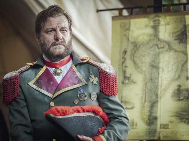 Solano López é retratado rapidamente como conquistador (Foto: Paulo Belote/Globo)